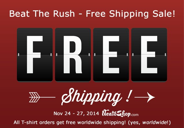 Free Shipping for T-Shirts