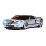 Ford GT (Silver/Black Stripes) Wireless Road Mice