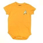 Star Trek Command Uniform (Gold) - Baby Snapsuit