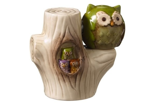 Owl in Tree - Salt & Pepper Shakers