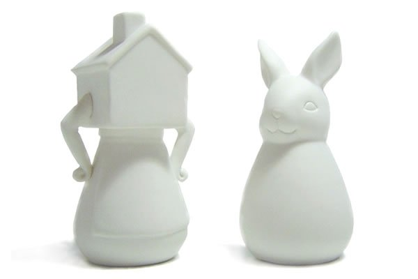 Shake Me - Alice in Wonderland Salt and Pepper Shakers :  kitchen accessories salt and pepper shakers alice in wonderland white rabbit
