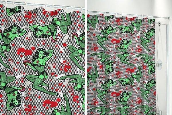 Fishnet Zombie - Shower Curtain