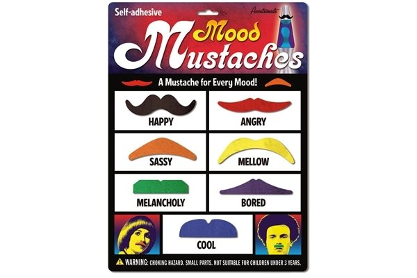 Mustache Mood Ring Color Chart