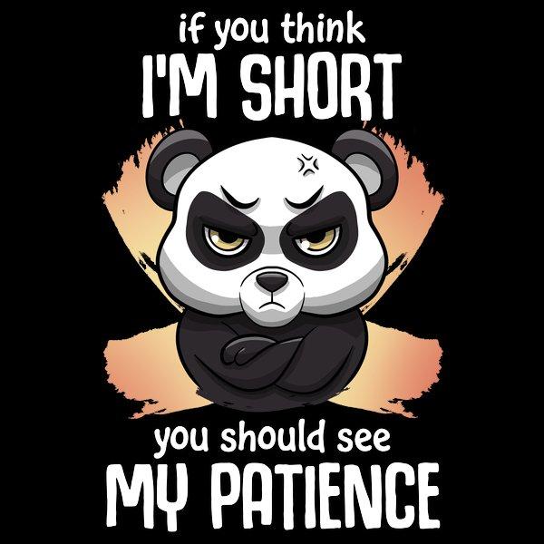Impatient short panda designed by Lambodesigns