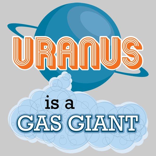 Uranus is a Gas Giant